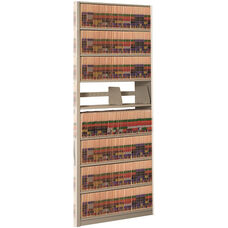 4Post-In-A-Box Shelving File Storage with 9 Shelves - Adder Unit - Bone White