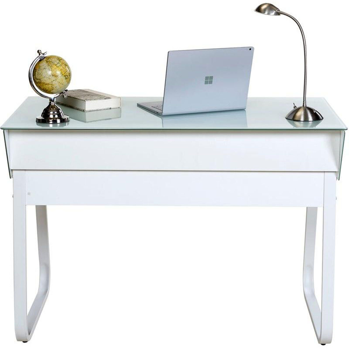 Our Onespace Ultramodern Glass Computer Desk With Drawers White Is On Now