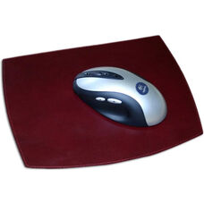 Classic Two Tone Leather Mouse Pad - Burgundy and Black