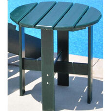 Traditional Recycled Plastic Adirondack Side Table in Green