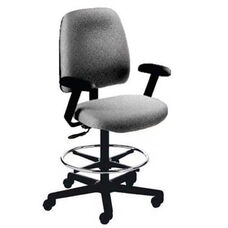 Centris Large Back Mid-Height Drafting Cleanroom ESD Chair - 2 Way Control - Black Vinyl