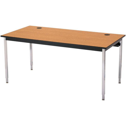Our Rectangular Adjustable Height Laminate Top Computer Table with Chrome Legs - 72