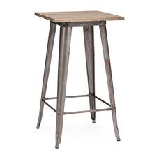 Titus Bar Table in Rustic Wood