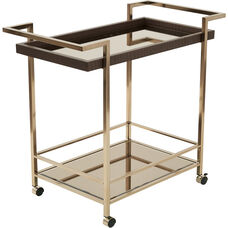OSP Designs Isabella Wine Cart with Bronze Glass Top