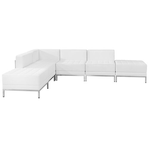 Our HERCULES Imagination Series Melrose White LeatherSoft Sectional Configuration, 6 Pieces is on sale now.