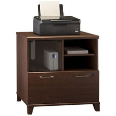 Achieve Lateral File/Printer Stand with Adjustable Shelf in Sweet Cherry Finish