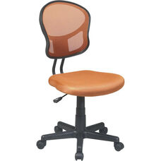 OSP Design Mesh Task Office Chair with Seat Heigh Adjustment and Casters - Orange