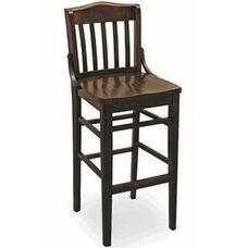 Classic Indoor Collection Beechwood Slat Full Back Barstool