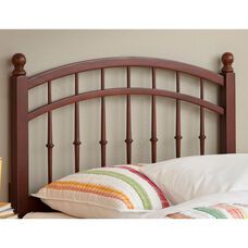 Bailey Transitional Intricate Wood Spindles Headboard - Twin - Merlot