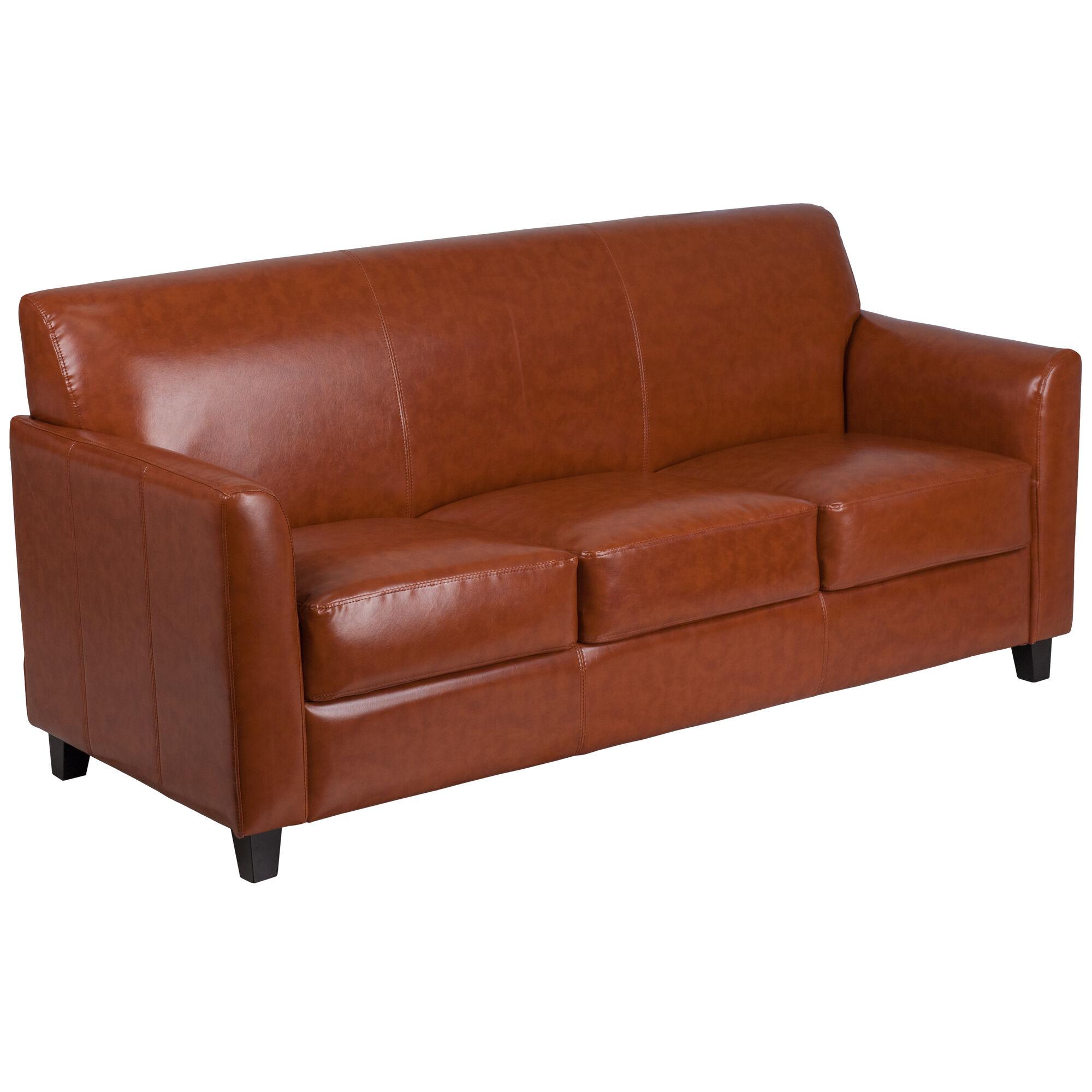 cognac leather sofa bt 827 3 cg gg. Black Bedroom Furniture Sets. Home Design Ideas