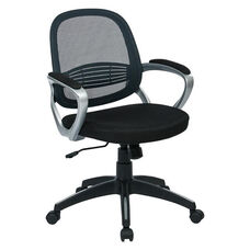 OSP Designs Bridgeport Office Chair with Screen Back - Grey