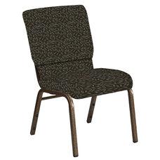 18.5''W Church Chair in Jasmine Chocaqua Fabric - Gold Vein Frame