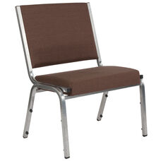 HERCULES Series 1500 lb. Rated Brown Antimicrobial Fabric Bariatric Medical Reception Chair