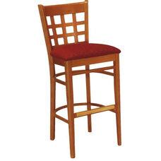 1854 Bar Stool w/ Upholstered Seat - Grade 2