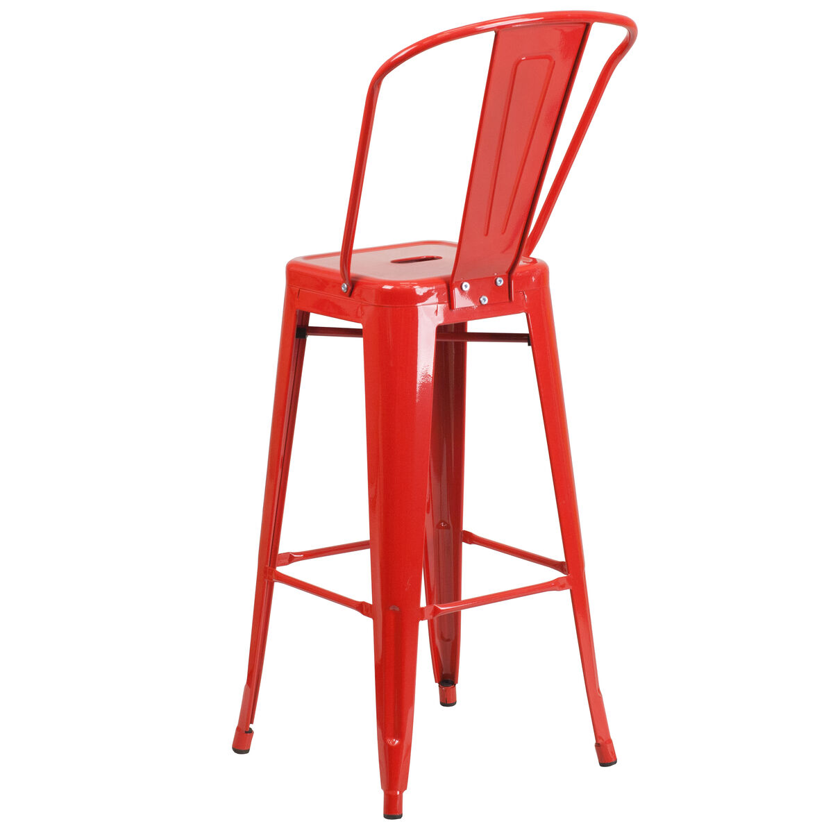 30 Quot Red Metal Outdoor Stool Ch 31320 30gb Red Gg