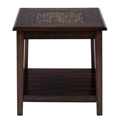 Our Baroque Brown End Table with Mosaic Tile Inlay and Shelf is on sale now.