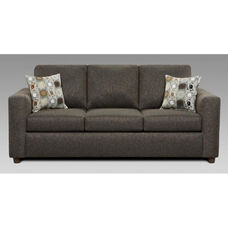 Talbot Transitional Style Polyester Blend Queen Sleeper Sofa - Vivid Onyx