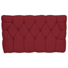 Kids Meridia Collection - Tufted Upholstered Twin Headboard - Red Suede
