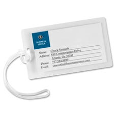 Business Source Laminating Pouch Tags withLoop -10Mil -2 1/4