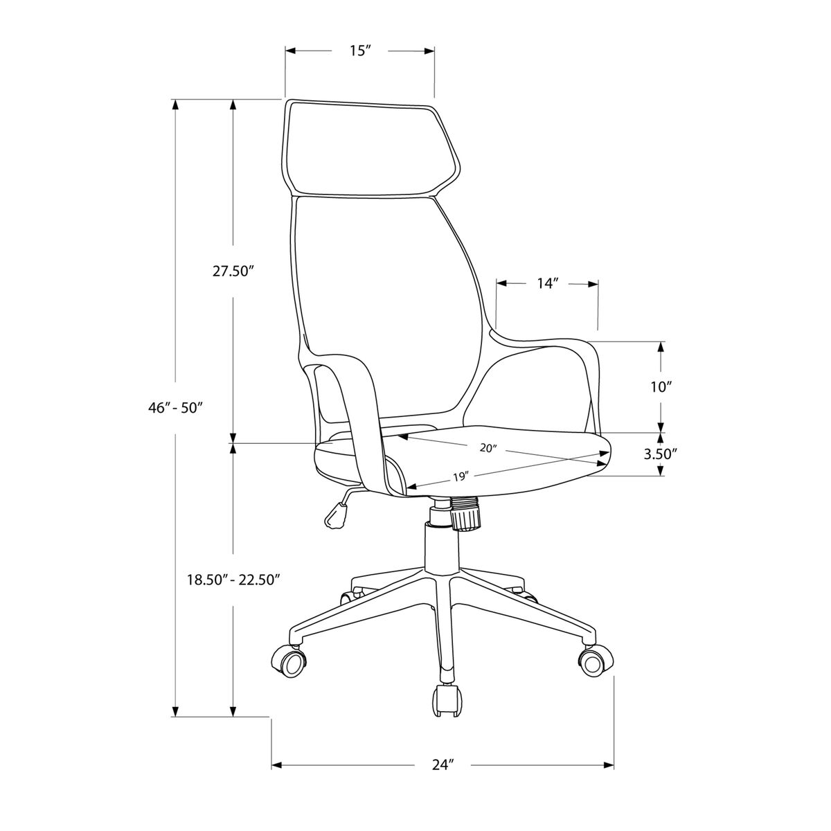 Our High Back Executive Office Chair Black Microfiber Is On Now