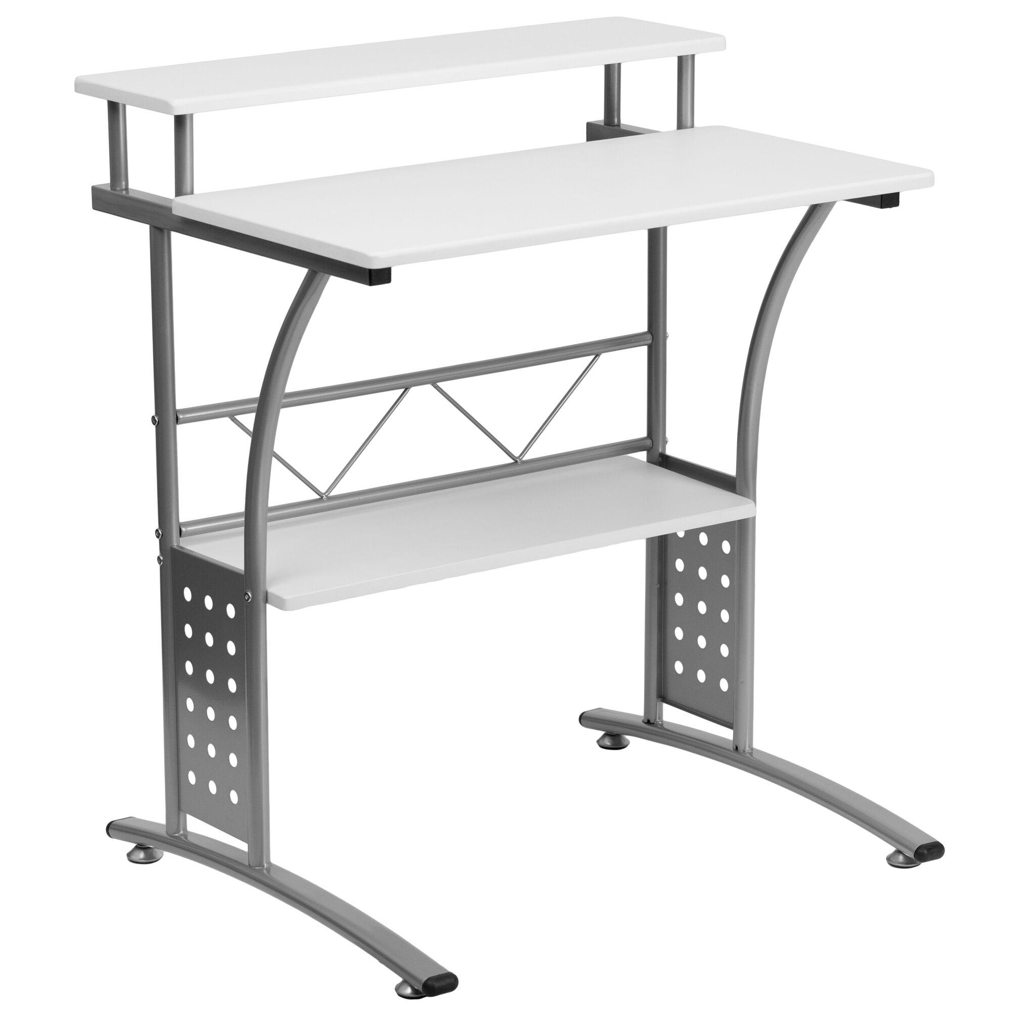 Flash Furniture Clifton White Computer Desk Nan Clifton Wh