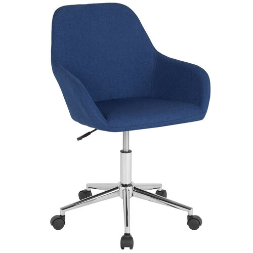 Our Cortana Home and Office Mid-Back Chair in Blue Fabric is on sale now.