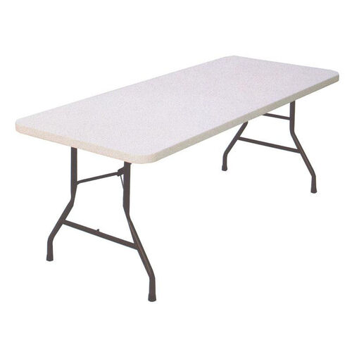 Our Economy Blow-Molded Rectangular Plastic Top Folding Table - 96