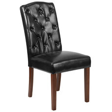HERCULES Grove Park Series Black LeatherSoft Tufted Parsons Chair