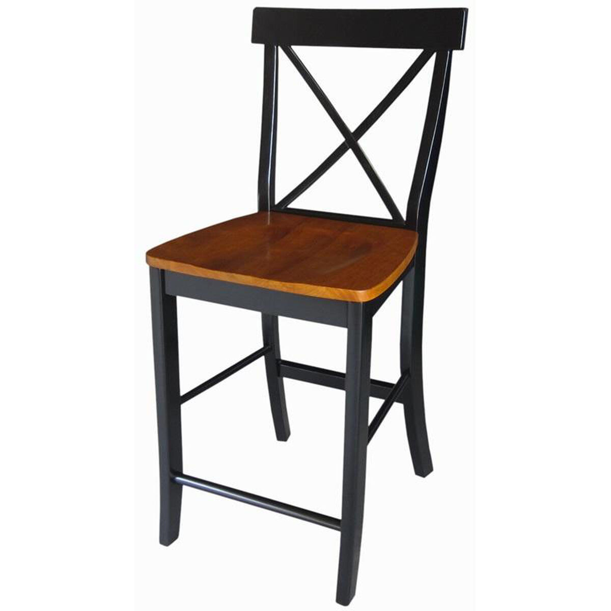 Solid Parawood Counter Stool S57 6132 Bizchair Com