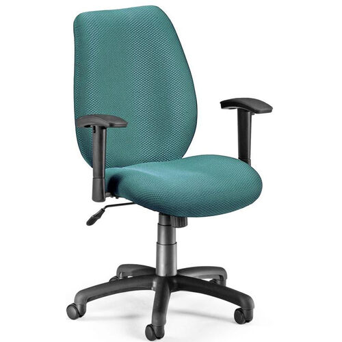 Ergonomic Upholstered Managers Task Chair with Arms - Teal