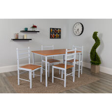 High Bridge 5 Piece Natural Finish Dinette Set with Chairs