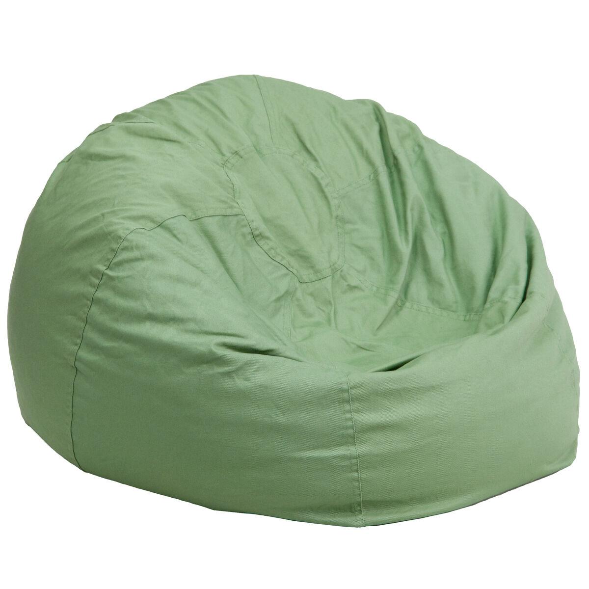 Green Bean Bag Chair Dg Bean Large Solid Grn Gg Bizchair Com