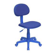 Blue Fabric Swivel Task Office Chair