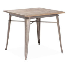 Titus Dining Table in Rustic Wood