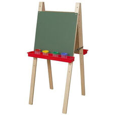 Double Adjustable Chalkboard Easels with Solid Maple Legs - 22