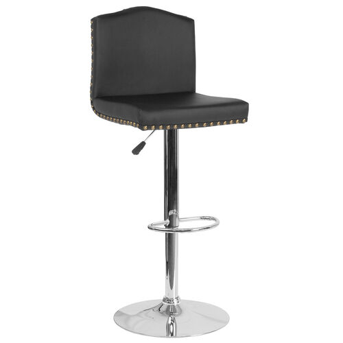 Our Bellagio Contemporary Adjustable Height Barstool with Accent Nail Trim in Black Leather is on sale now.