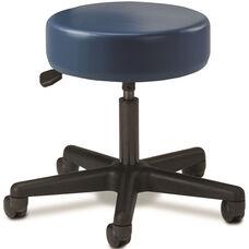 Pneumatic Adjustable Medical Stool - Royal Blue with Black Base