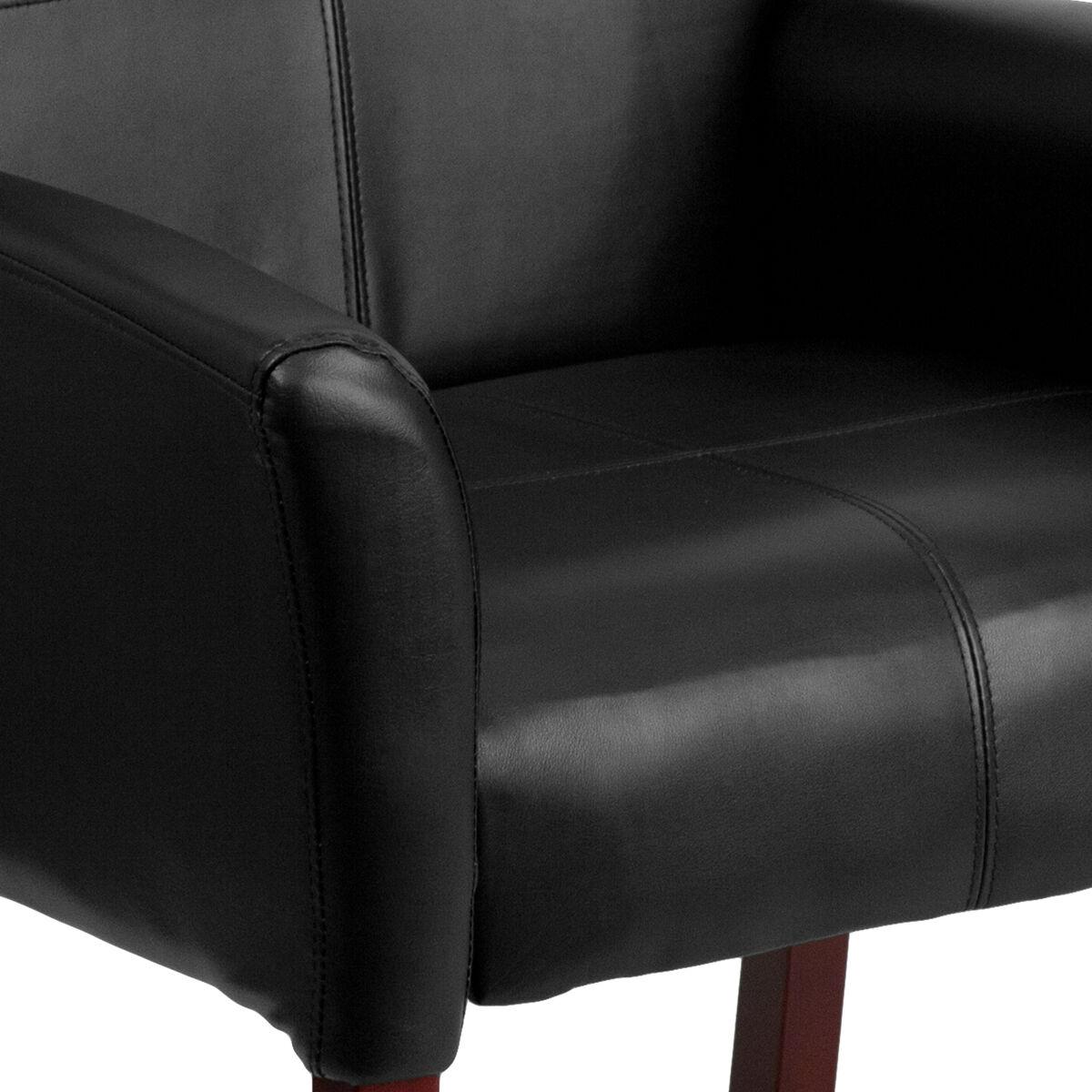 Black Leather Side Chair Bt 353 Bk Lea Gg Bizchair Com