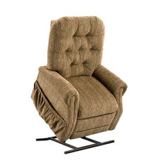 Two Way Reclining Power Lift Chair with Matching Arm and Headrest Covers - Bromley Havana Fabric