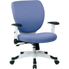 Space Pulsar Fabric Seat and Back Managers Office Chair - Dove Violet