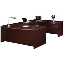 Fairplex Right or Left Executive Bow Front U Desk with .75 Peds