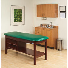 Flat Top H-Brace Treatment Table w/Tier Shelf - 27