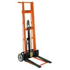 Two-Wheeled Hydraulic Steel Framed Pedal Lift With Fork Lifter