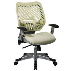 Space REVV Self Adjusting SpaceFlex Back and Mesh Seat Managers Chair with Adjustable Arms - Kiwi