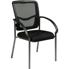 Pro-Line II ProGrid® Back Lumbar Support Visitors Chair with Arms - Black