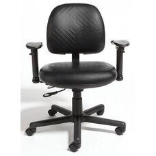 Triton Plus Medium Back Desk Height Cleanroom ESD Chair with 350 lb. Capacity - 4 Way Control - Rhinoplus Night Urethane