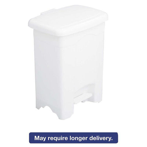Our Safco® Step-On Receptacle - Rectangular - Plastic - 4gal - White is on sale now.