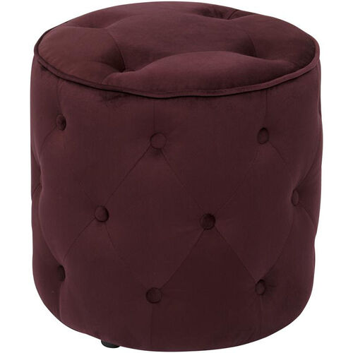 Our Ave Six Curves Button Tufted Round Ottoman - Port Velvet Velvet is on sale now.