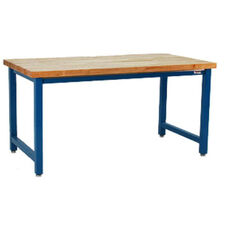 Premium 6,600 lb Capacity 1.75'' Thick Solid Maple Top Work Table Production Bench - 36''D X 72''W