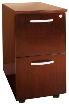 Napoli and Corsica Mobile File File Pedestal - Sierra Cherry on Cherry Veneer